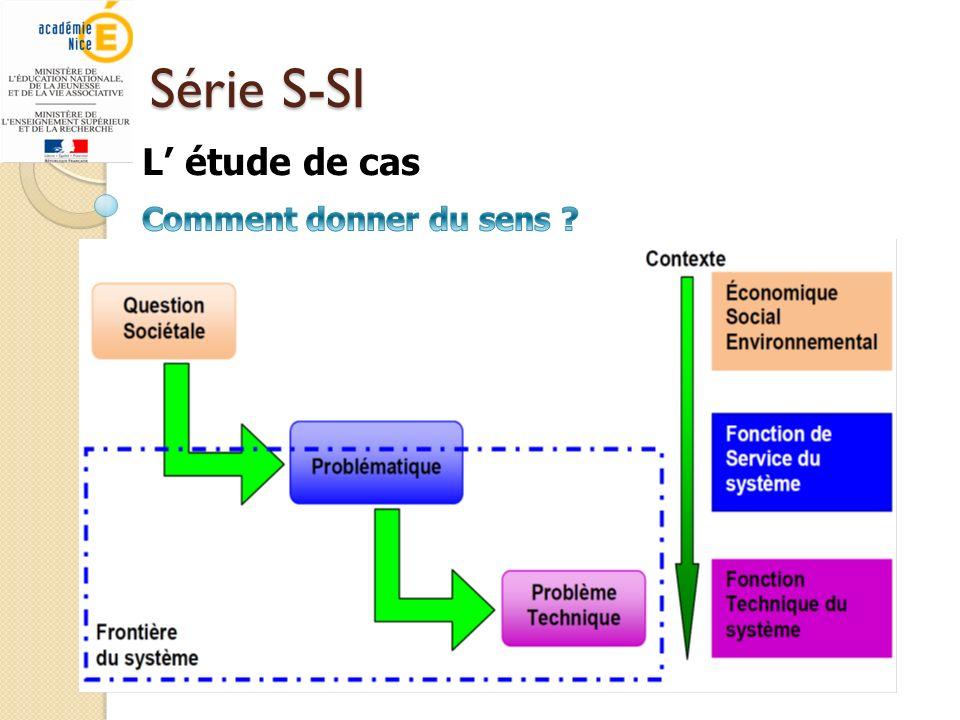Série S-SI L étude de cas
