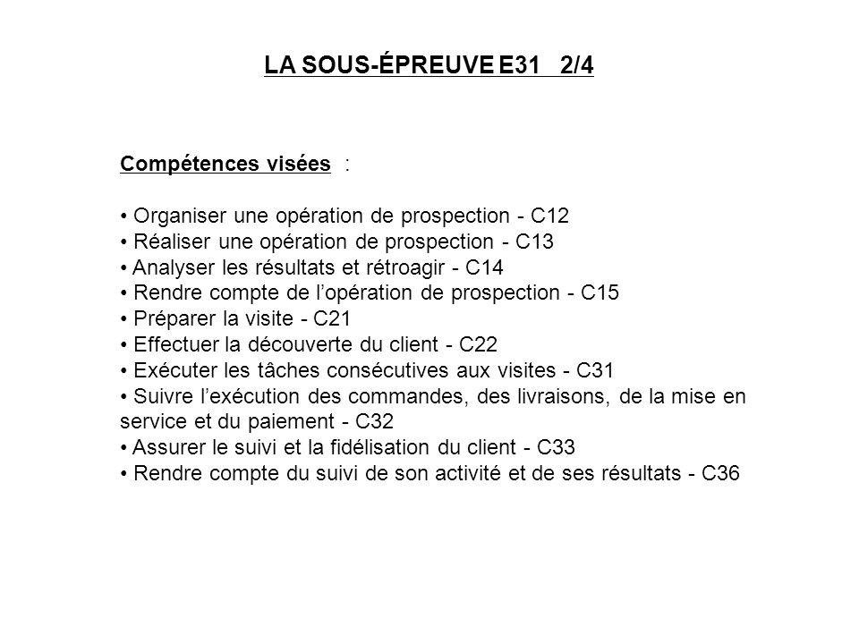 Compétences visées : Organiser une opération de prospection - C12 Réaliser une opération de prospection - C13 Analyser les résultats et rétroagir - C1
