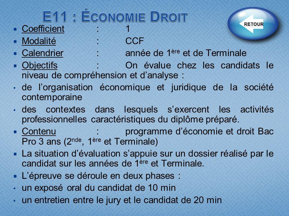 Coefficient:1 Modalité :CCF Calendrier:année de 1 ère et de Terminale Objectifs : On évalue chez les candidats le niveau de compréhension et danalyse