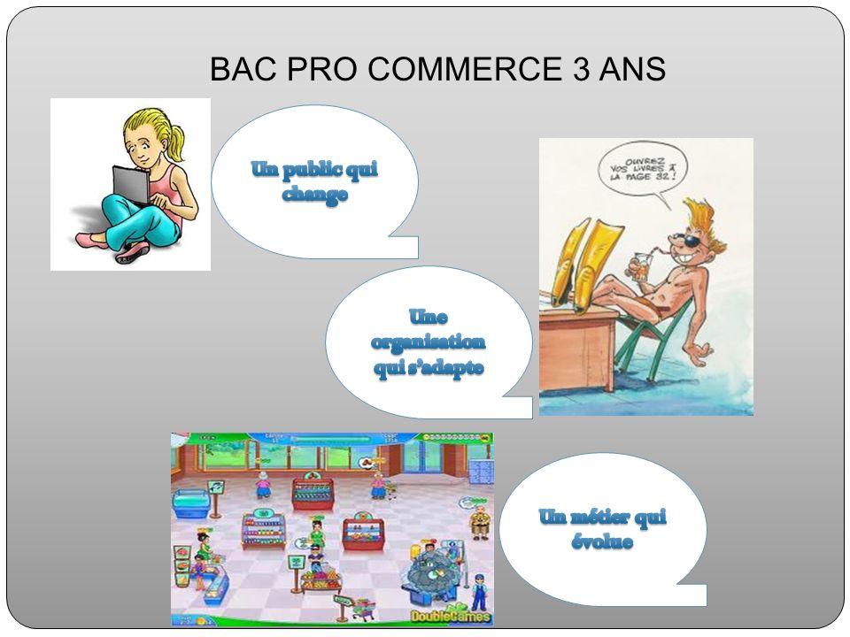 BAC PRO COMMERCE 3 ANS