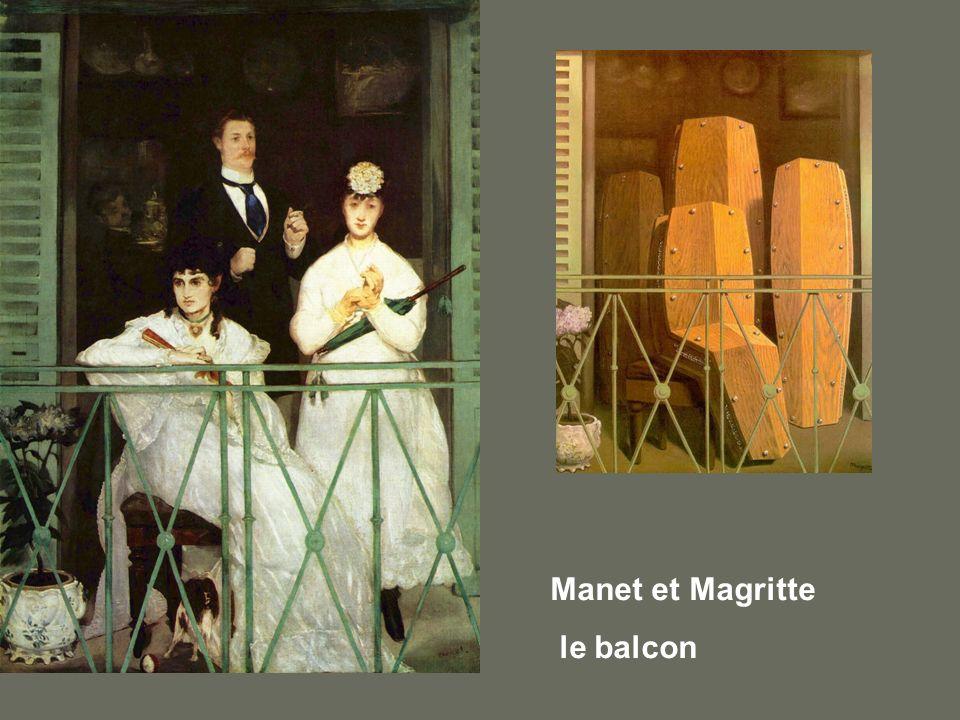 Manet et Magritte le balcon