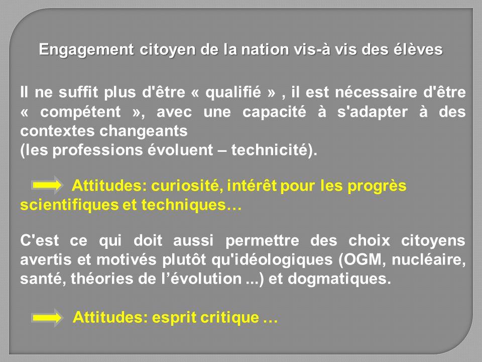 Il ne suffit plus d'être « qualifié », il est nécessaire d'être « compétent », avec une capacité à s'adapter à des contextes changeants (les professio