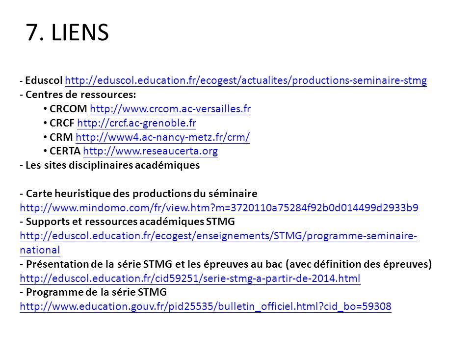 - Eduscol http://eduscol.education.fr/ecogest/actualites/productions-seminaire-stmghttp://eduscol.education.fr/ecogest/actualites/productions-seminair