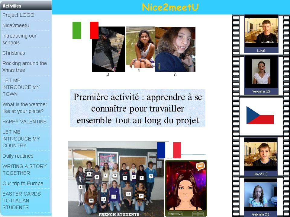Nice2meetU Première activité : apprendre à se connaître pour travailler ensemble tout au long du projet