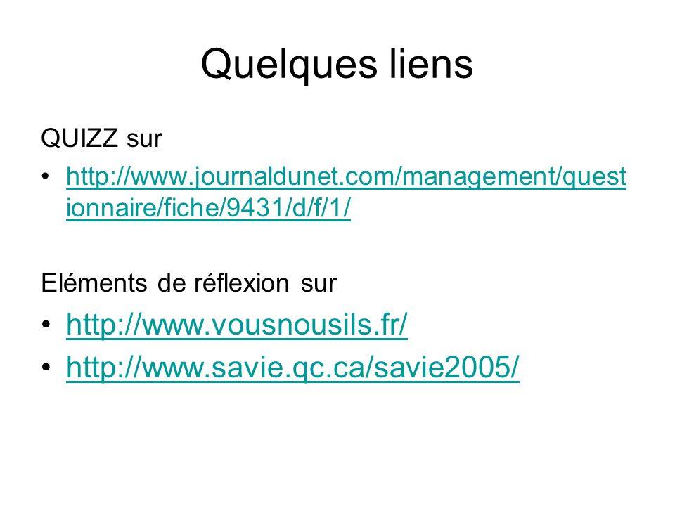 Quelques liens QUIZZ sur http://www.journaldunet.com/management/quest ionnaire/fiche/9431/d/f/1/http://www.journaldunet.com/management/quest ionnaire/
