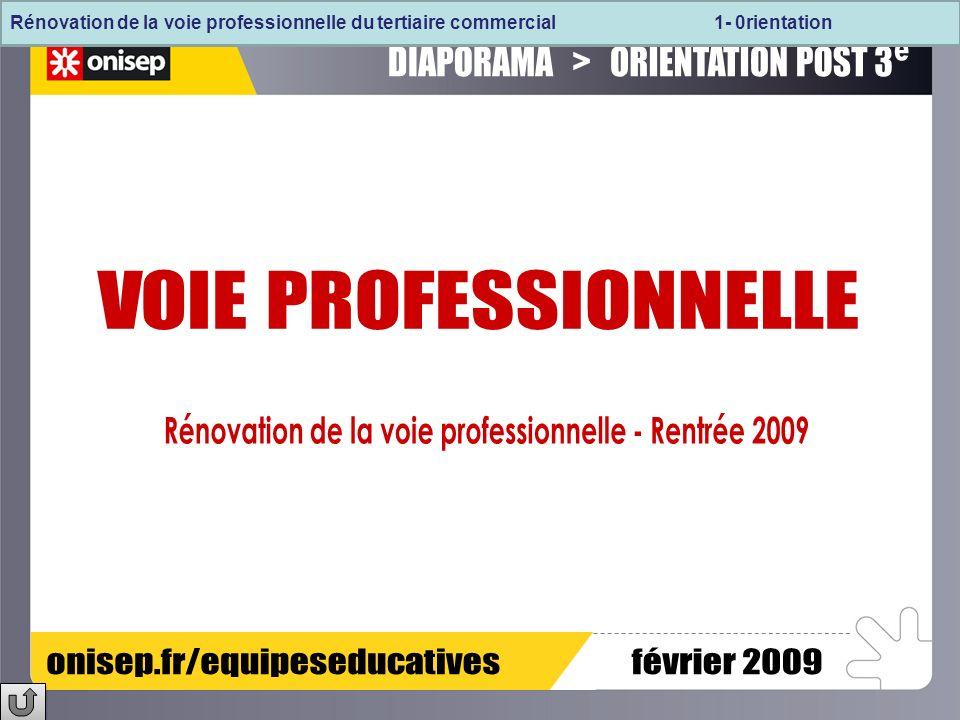 LES REFERENTIELS DES TROIS BACCALAUREATS PROFESSIONNELS DU TERTIAIRE COMMERCIAL VENTECOMMERCESERVICES LES CONTENUS DE FORMATION COMMUNS LES CONTENUS DE FORMATION DE LA SECONDE PROFESSIONNELLE Les pré-requis LES CONTENUS DE FORMATION DE LA SECONDE PROFESSIONNELLE Les pré-requis LE RAP et le Référentiel de certification du BEP MRCU Champ professionnel « Métiers de la relation aux clients et aux usagers » Rénovation de la voie professionnelle du tertiaire commercial 2- La seconde professionnelle