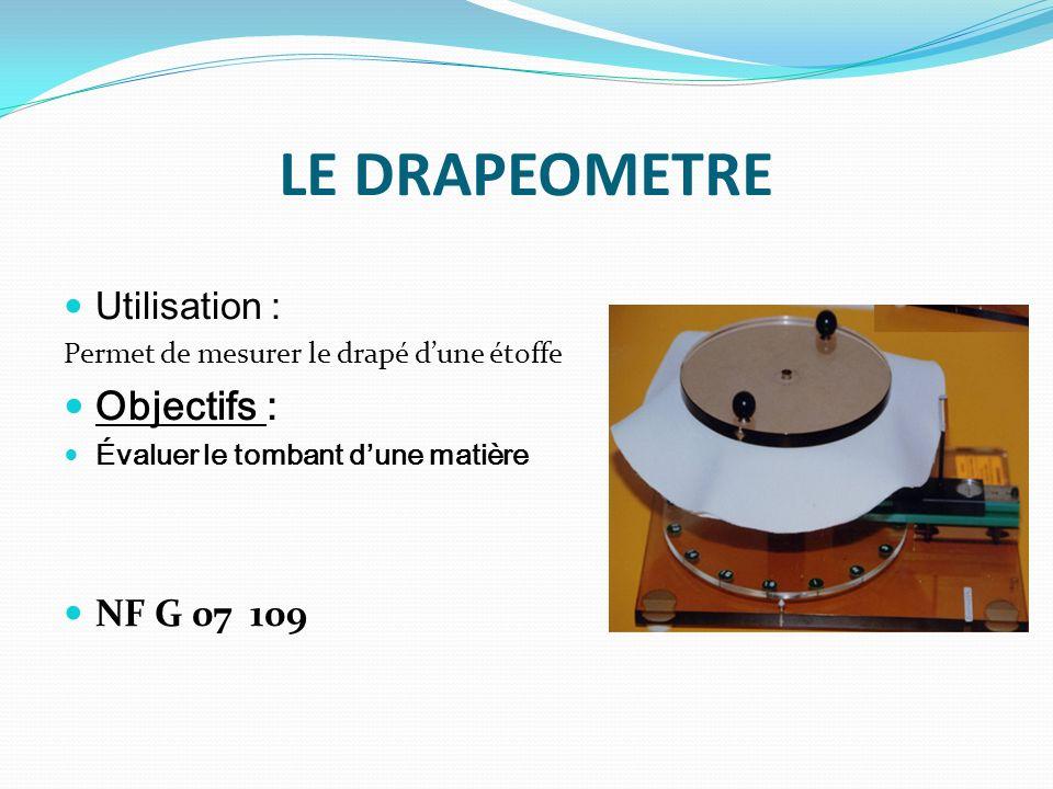 LABRASIMETRE / USOMETRE Utilisation : Ce test évalue la résistance à l abrasion (mesurer la résistance du tissu aux frottements).