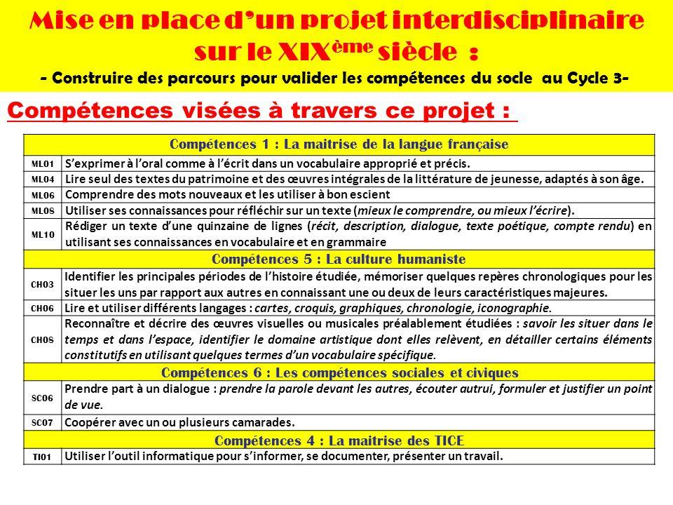Compétences 1 : La maitrise de la langue française ML01 Sexprimer à loral comme à lécrit dans un vocabulaire approprié et précis. ML04 Lire seul des t