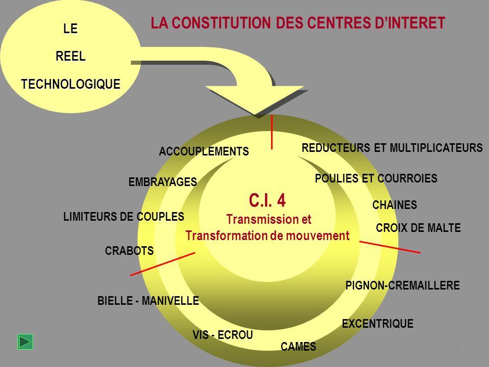 5 LEREELTECHNOLOGIQUE C.I. 1 Les assemblages Les assemblages réalisant une liaison encastrement C.I. 1 Les assemblages Les assemblages réalisant une l