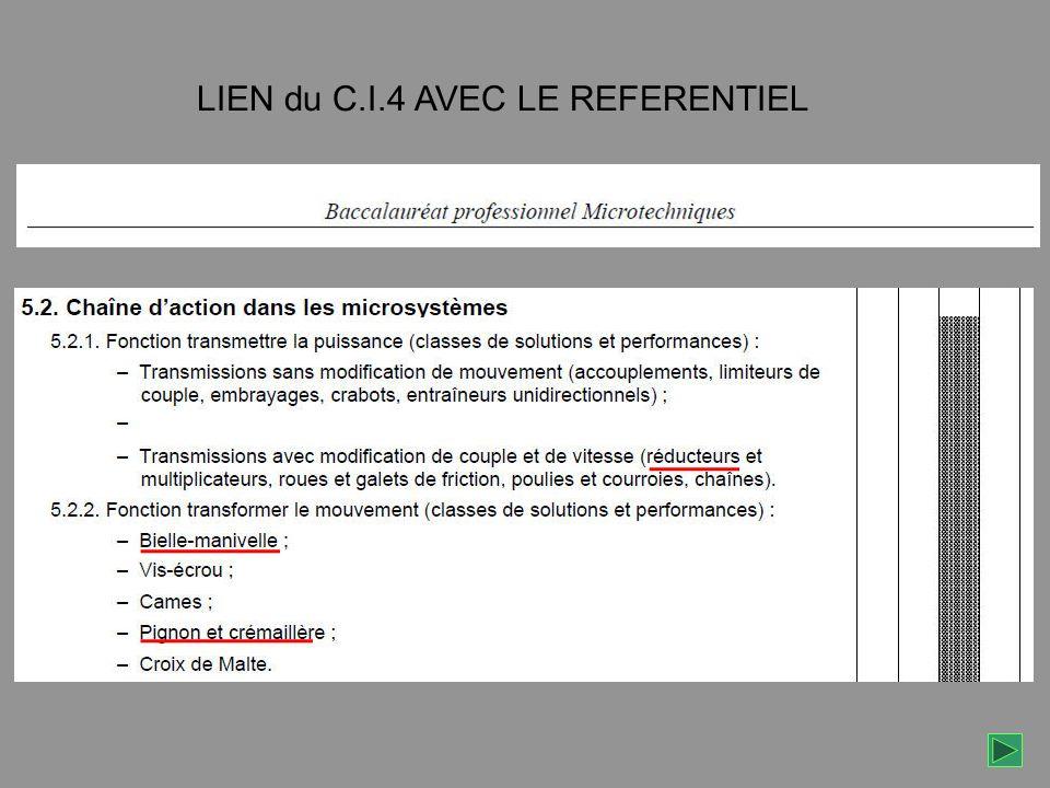 LIEN du C.I.4 AVEC LE REFERENTIEL