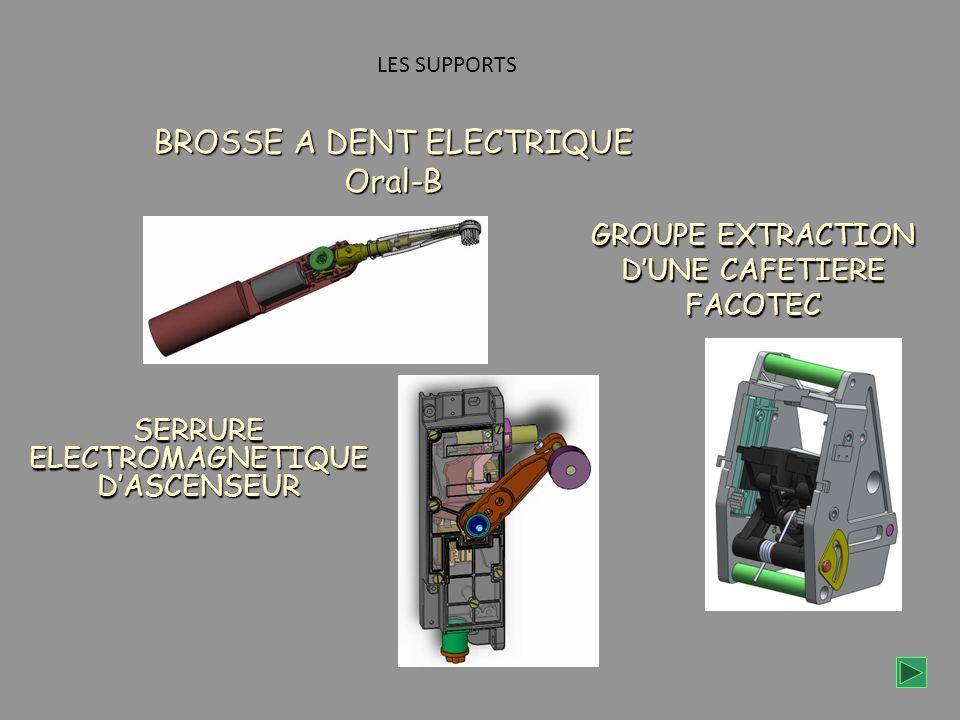 GROUPE EXTRACTION DUNE CAFETIERE FACOTEC LES SUPPORTS BROSSE A DENT ELECTRIQUE Oral-B SERRURE ELECTROMAGNETIQUE DASCENSEUR