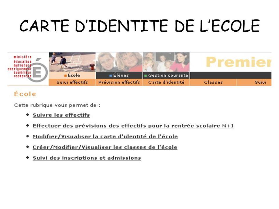 CARTE DIDENTITE DE LECOLE