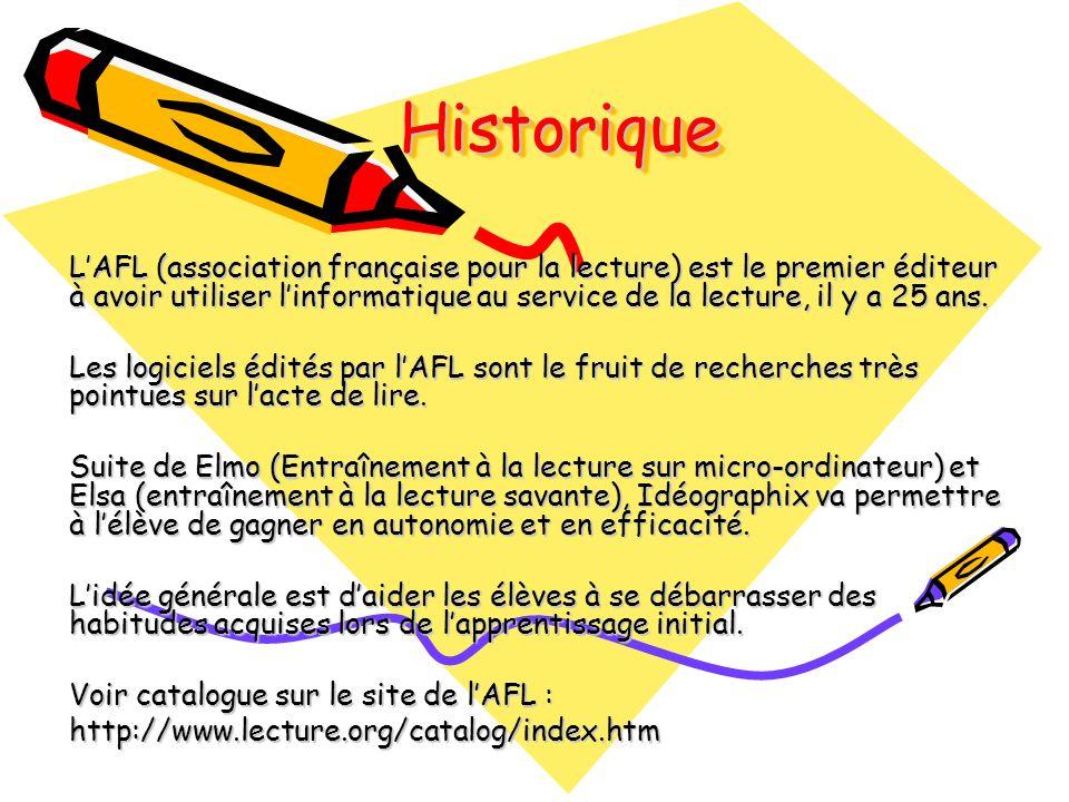 HistoriqueHistorique LAFL (association française pour la lecture) est le premier éditeur à avoir utiliser linformatique au service de la lecture, il y