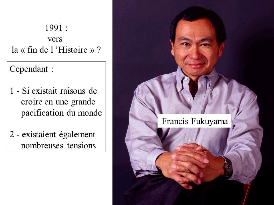 1991-2001 = échec du « nouvel ordre international »