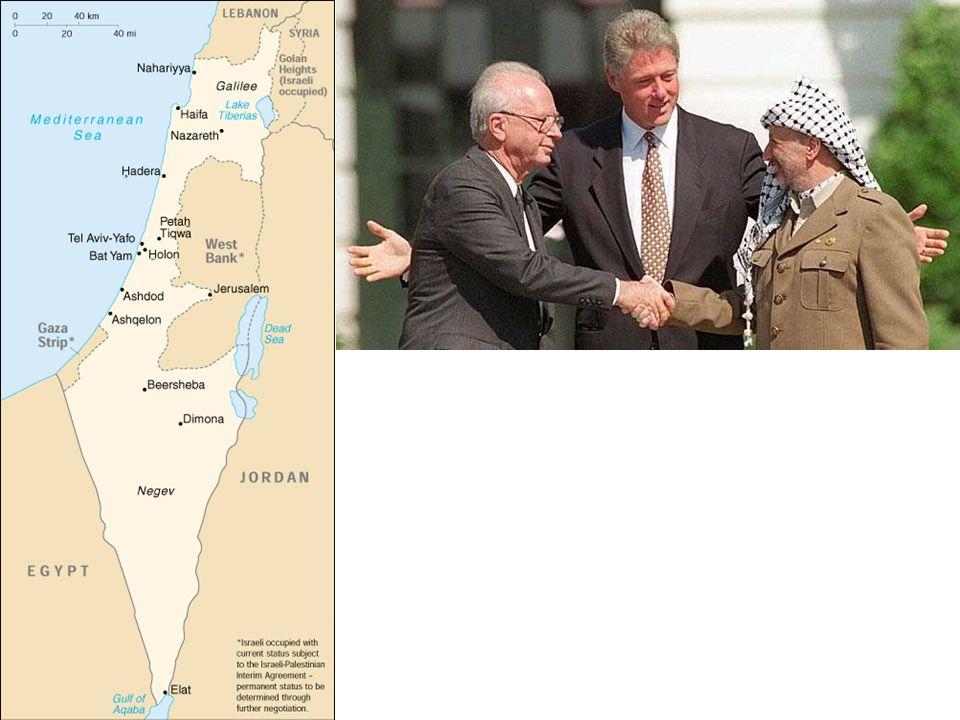 Conséquence de la victoire sur Saddam Hussein en 1991 : 1 - Pour le Liban : Pax syriana 2 - Pour les Territoires occupés : - Négociations de Madrid (o