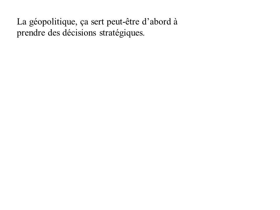 1 - Géographie : Gê + graphein = géomorphologie 2 - Géographie politique = géographie humaine 3 - Géostratégie : Gê + stratos + ageîn 4 - Géoéconomie : E.