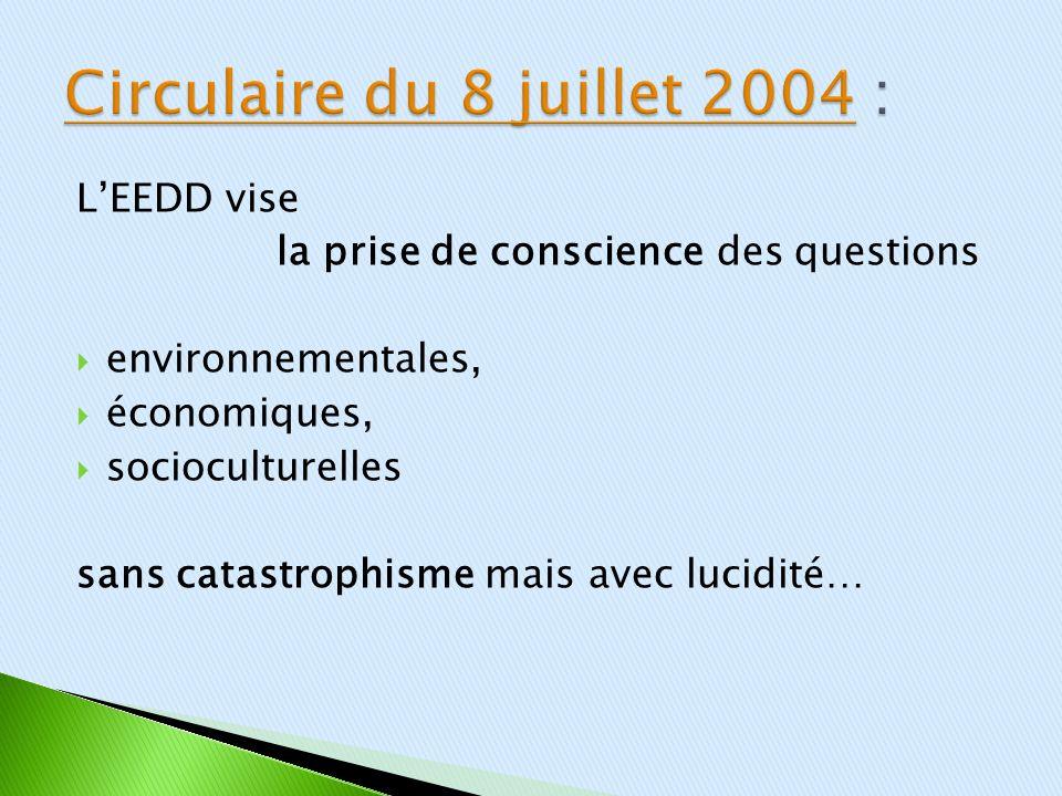 LEEDD vise la prise de conscience des questions environnementales, économiques, socioculturelles sans catastrophisme mais avec lucidité…