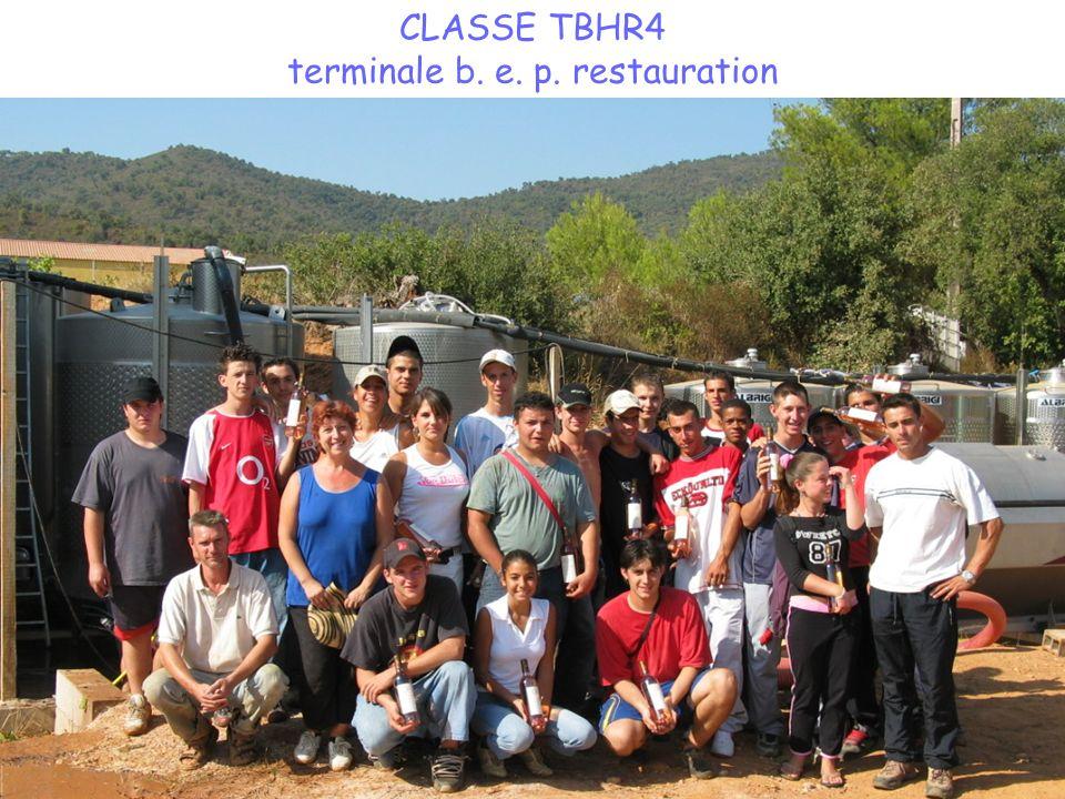CLASSE TBHR4 terminale b. e. p. restauration