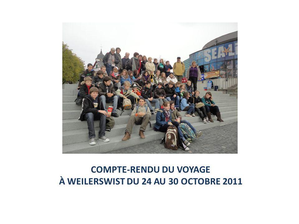 COMPTE-RENDU DU VOYAGE À WEILERSWIST DU 24 AU 30 OCTOBRE 2011
