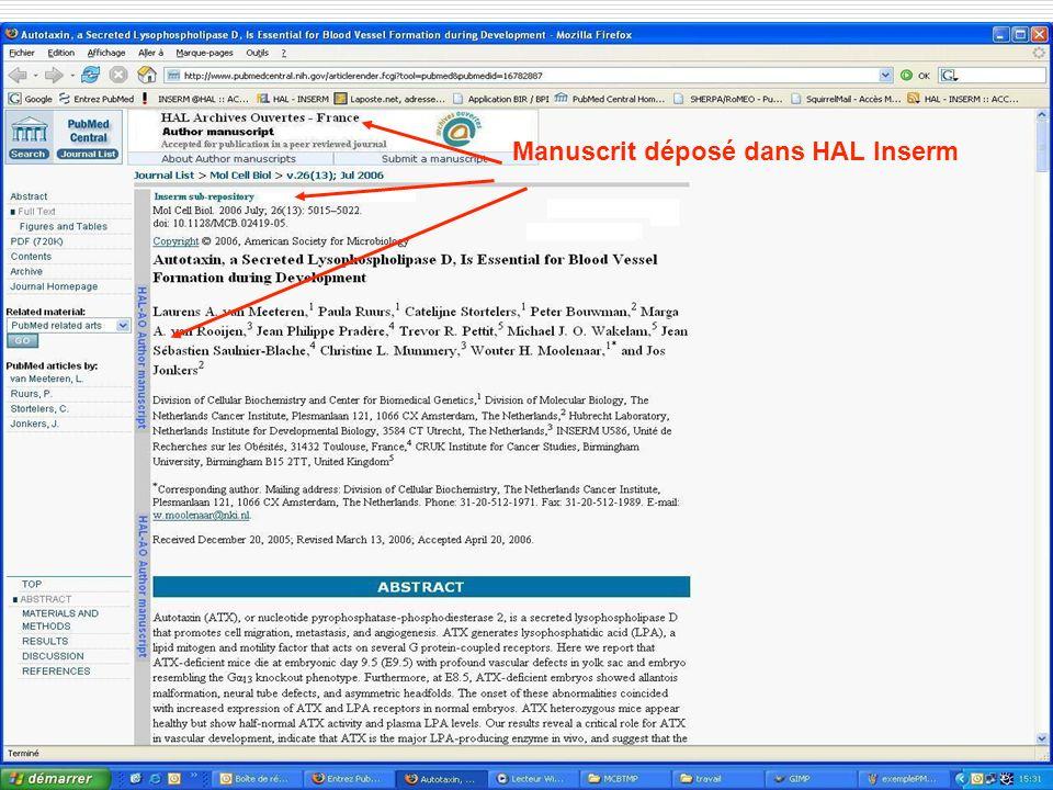 Académie des Sciences 14 mai 2007 Manuscrit déposé dans HAL Inserm