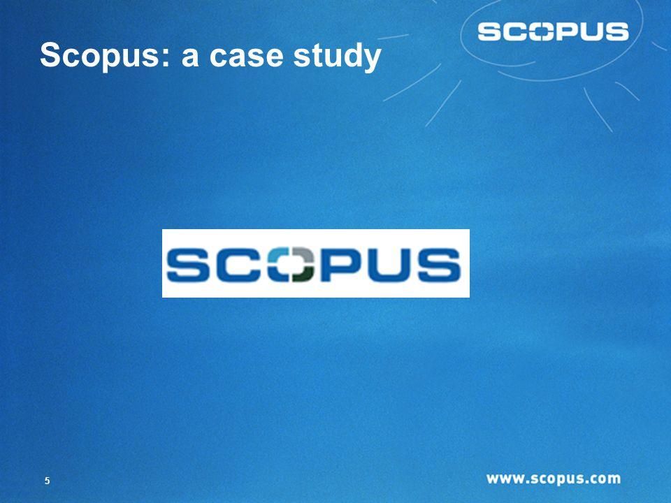 5 Scopus: a case study