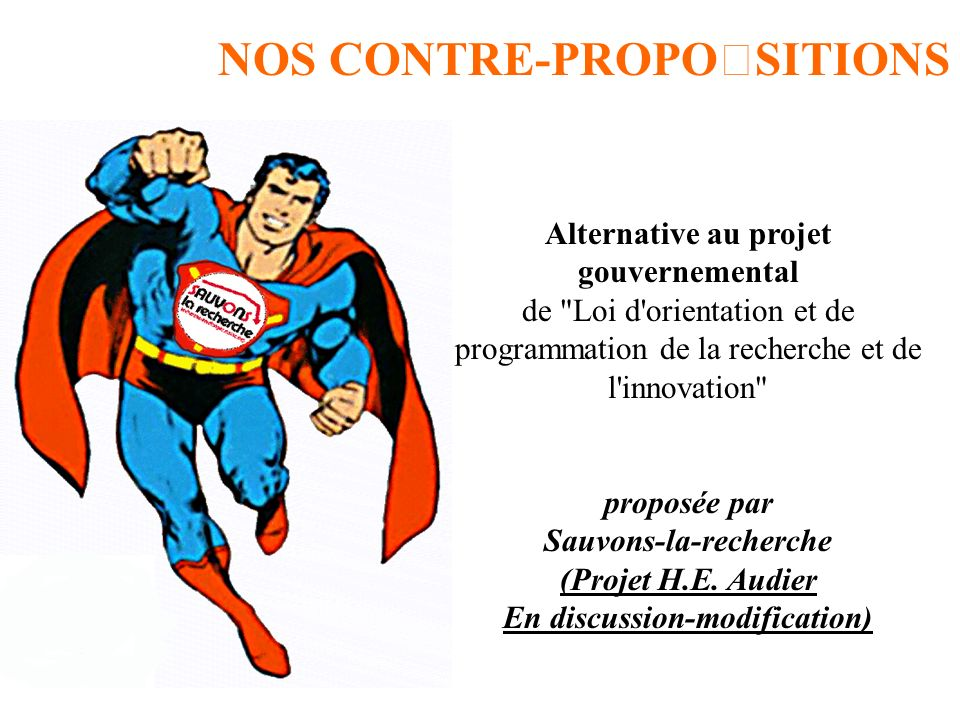 Alternative au projet gouvernemental de