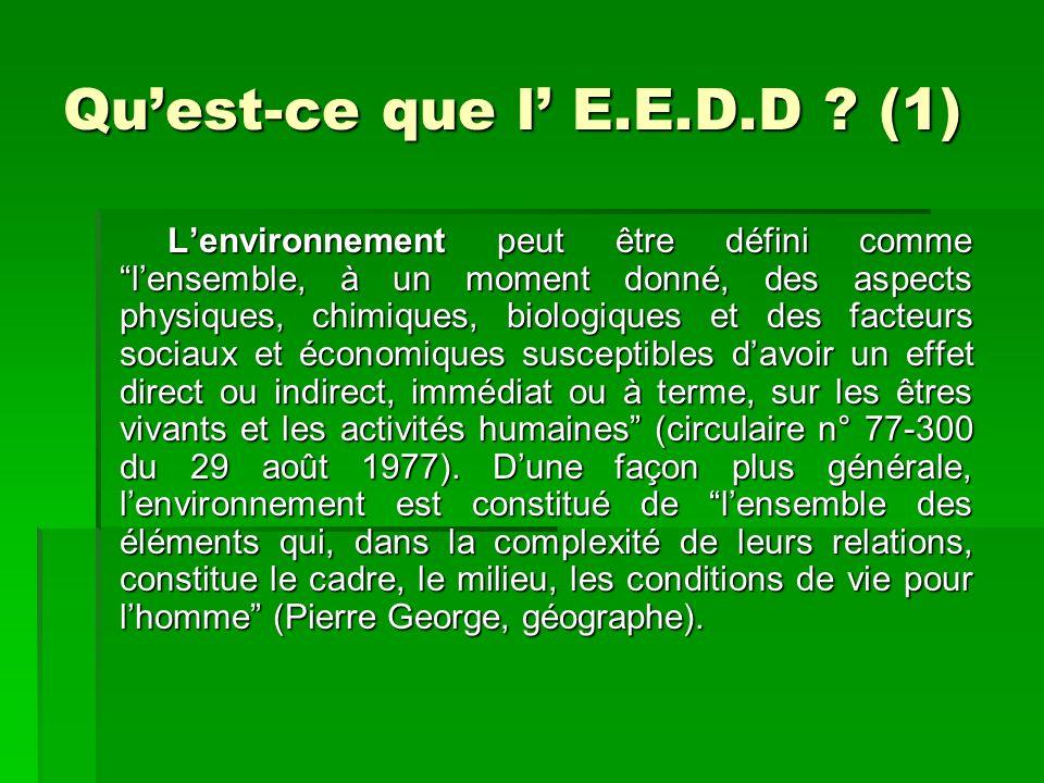Quest-ce que lE.E.D.D .