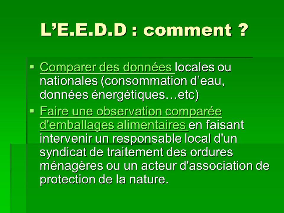 LE.E.D.D : comment .