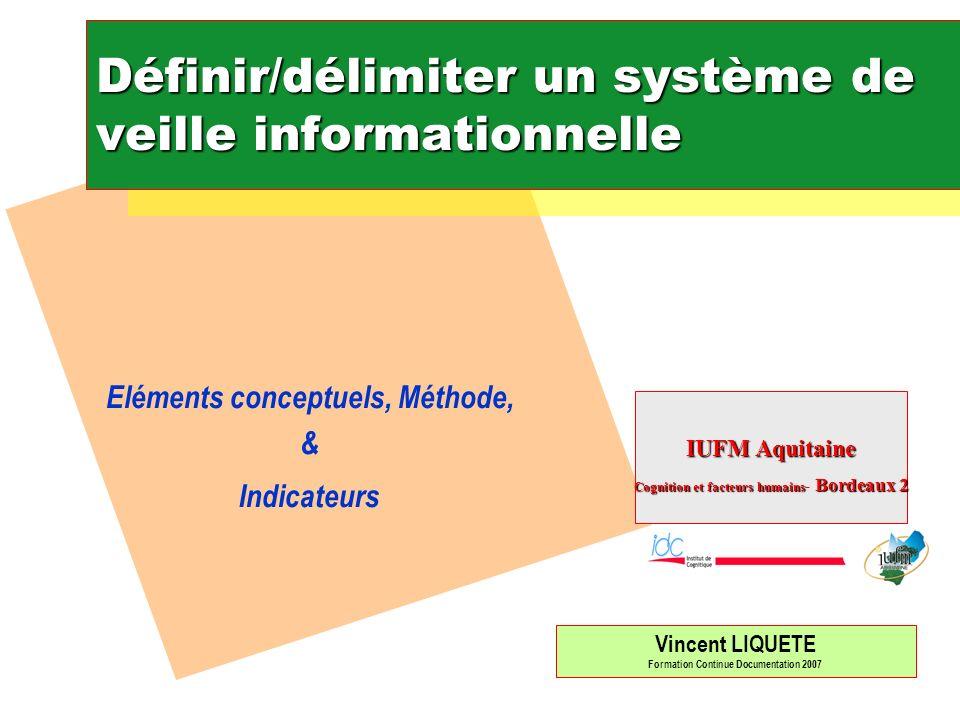 Iufm-Bordeaux II Couleur de linformation au CDI : L information blanche + L information grise