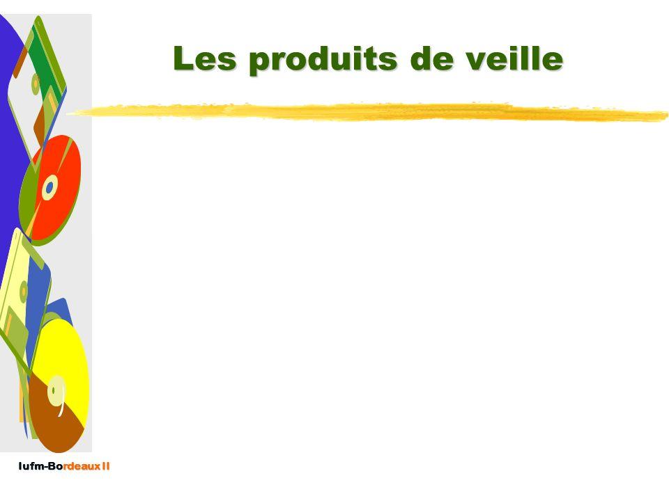 Iufm-Bordeaux II Les « Complexes » du Veilleur Aide à la décision (rôle crucial) et/ou à la compréhension mais nest pas un décideur (cf. PolDoc) Tente