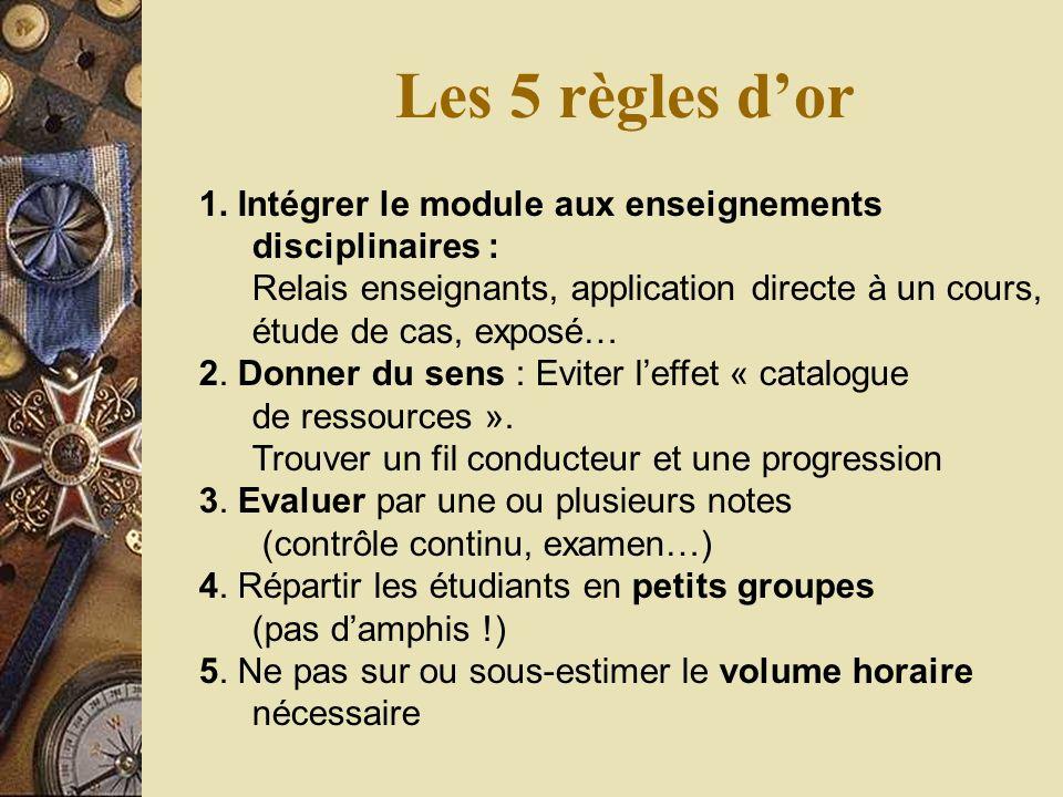 Les 5 règles dor 1.