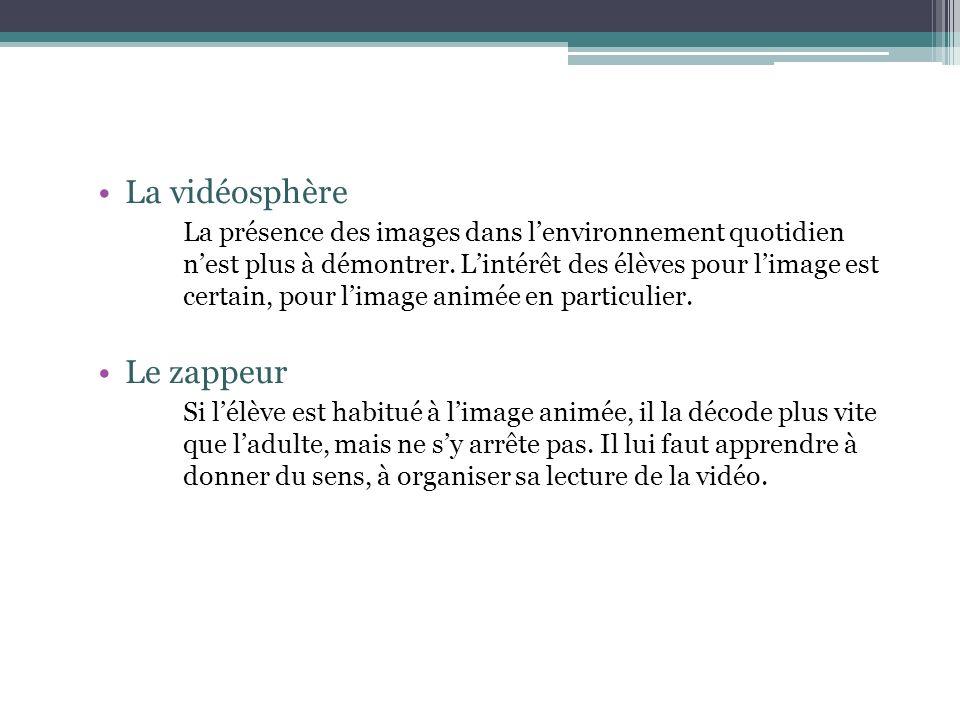 La vidéosphère La présence des images dans lenvironnement quotidien nest plus à démontrer.
