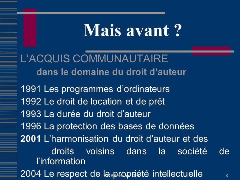 ADBS - 4 mai 20078 Mais avant .