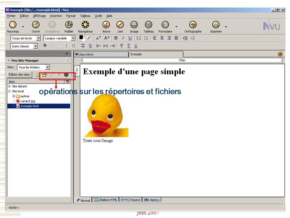 Josiane Ducournau CDDP Portail CDI juin 2007 opérations sur les répertoires et fichiers