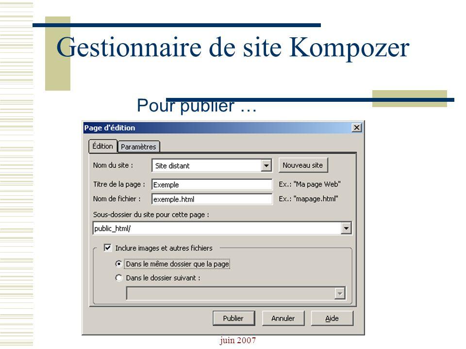 Josiane Ducournau CDDP Portail CDI juin 2007 Gestionnaire de site Kompozer Pour publier …