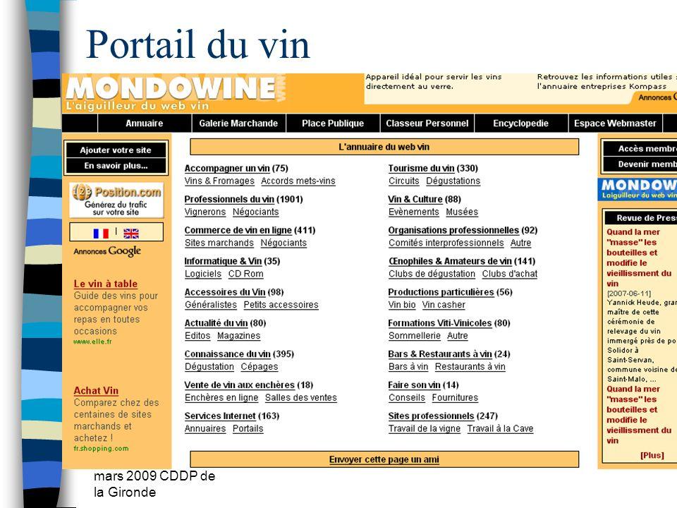 mars 2009 CDDP de la Gironde Portail du vin