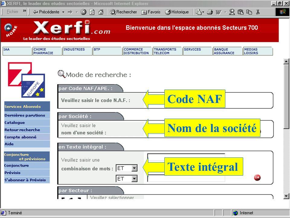 Code NAFNom de la sociétéTexte intégral