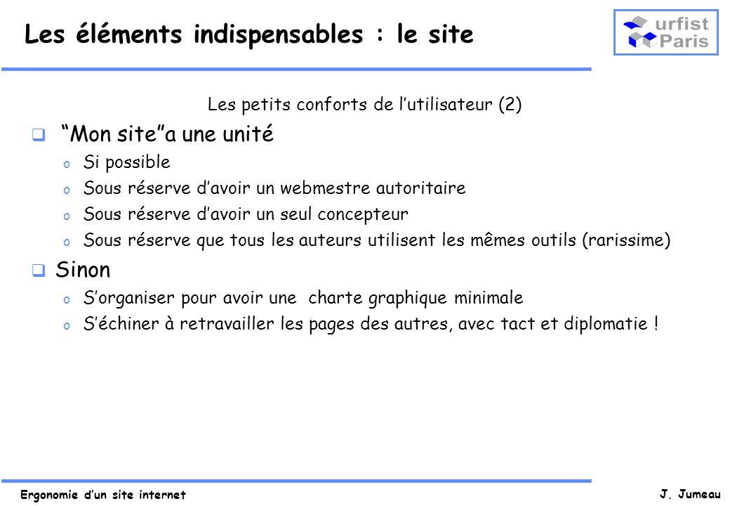 Ergonomie dun site internet J.