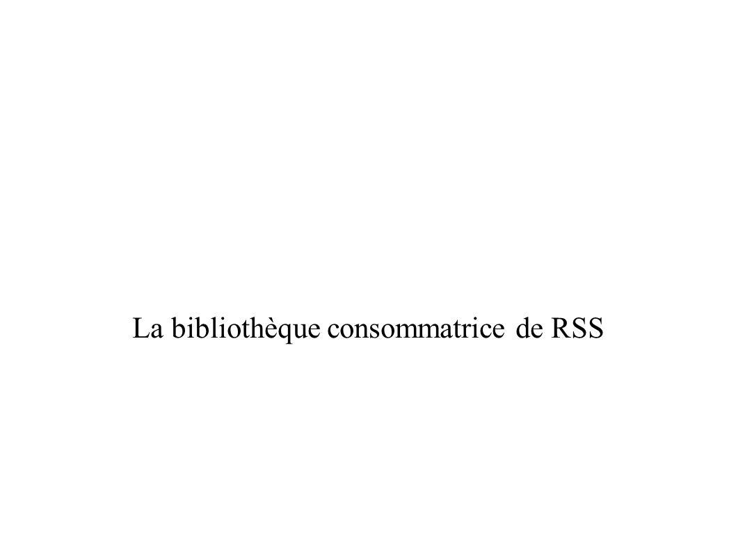 Bases de données biblio (suite) Générer un fil RSS à partir d une recherche biblio dans une base, puis intégrer le résultat dans le site web: – Ex: recherche kahler disease dans PubMed