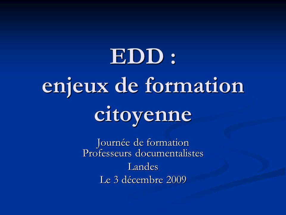 Les projets sur lEDD Des projets inclus dans le projet détablissement.