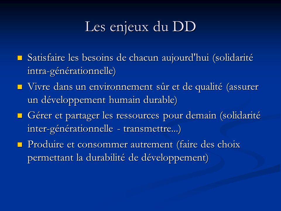 De lEE au Développement durable : lévolution des questions Pour lEcole : une évolution dans la façon de poser les questions Pour lEcole : une évolutio