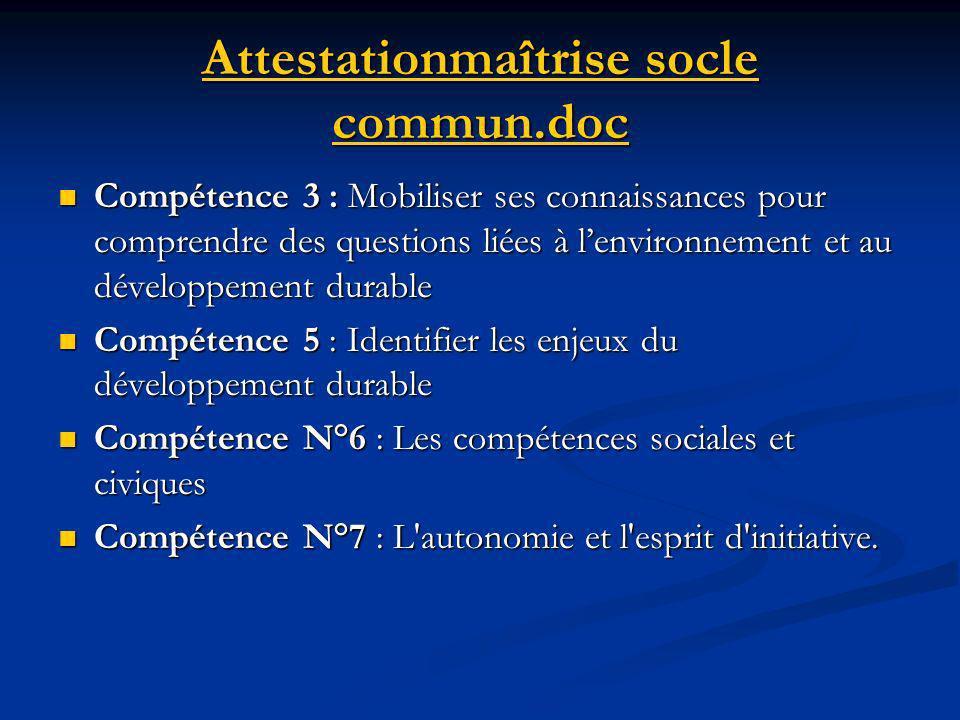 Socle commun de connaissances et de compétences Les enseignements obligatoires : grâce au socle commun de connaissances et de compétences, le développ