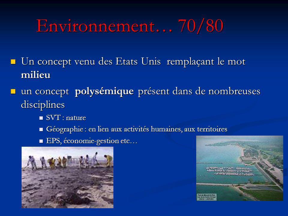 Ecologie : Les années 70 de la science à la politique Lécologie : une science Lécologie : une science une « doctrine » … deep ecology une « doctrine »