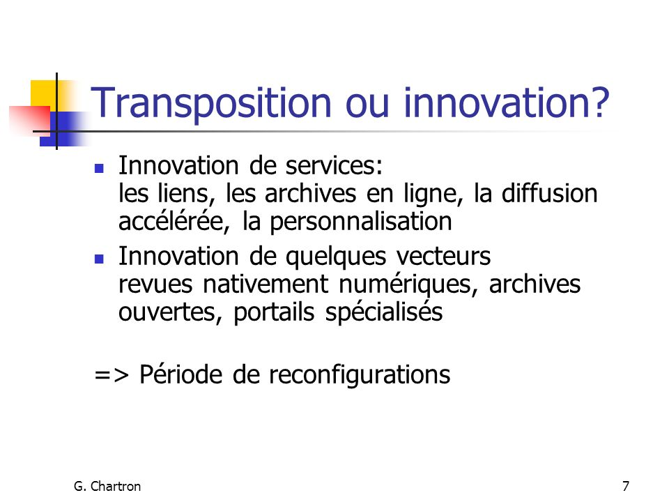 G. Chartron7 Transposition ou innovation.