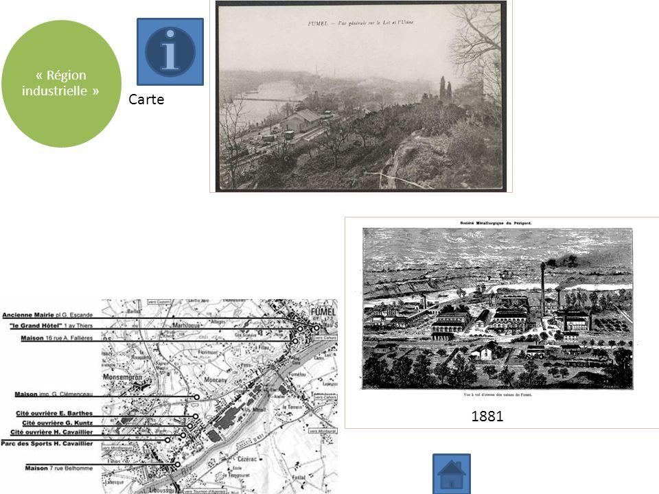 Carte « Région industrielle » 1881