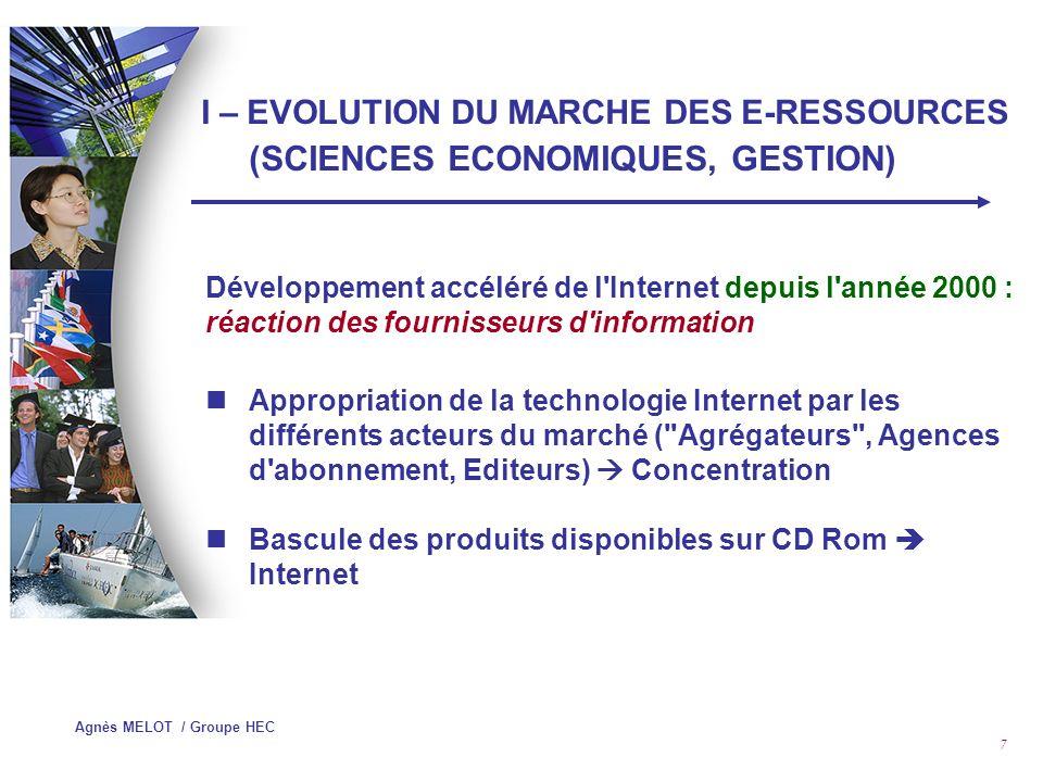 Agnès MELOT / Groupe HEC 47 IV – GESTION DE REVUES ECLECTRONIQUES Recherche Fédérée : exemple de la solution Qwam System
