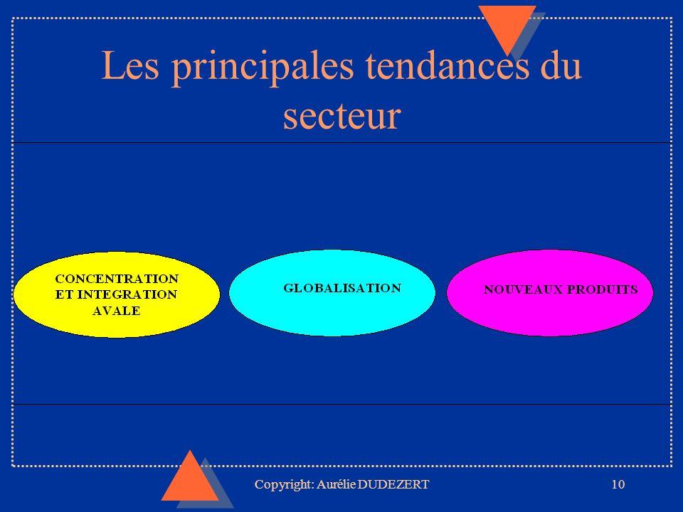Copyright: Aurélie DUDEZERT10 Les principales tendances du secteur