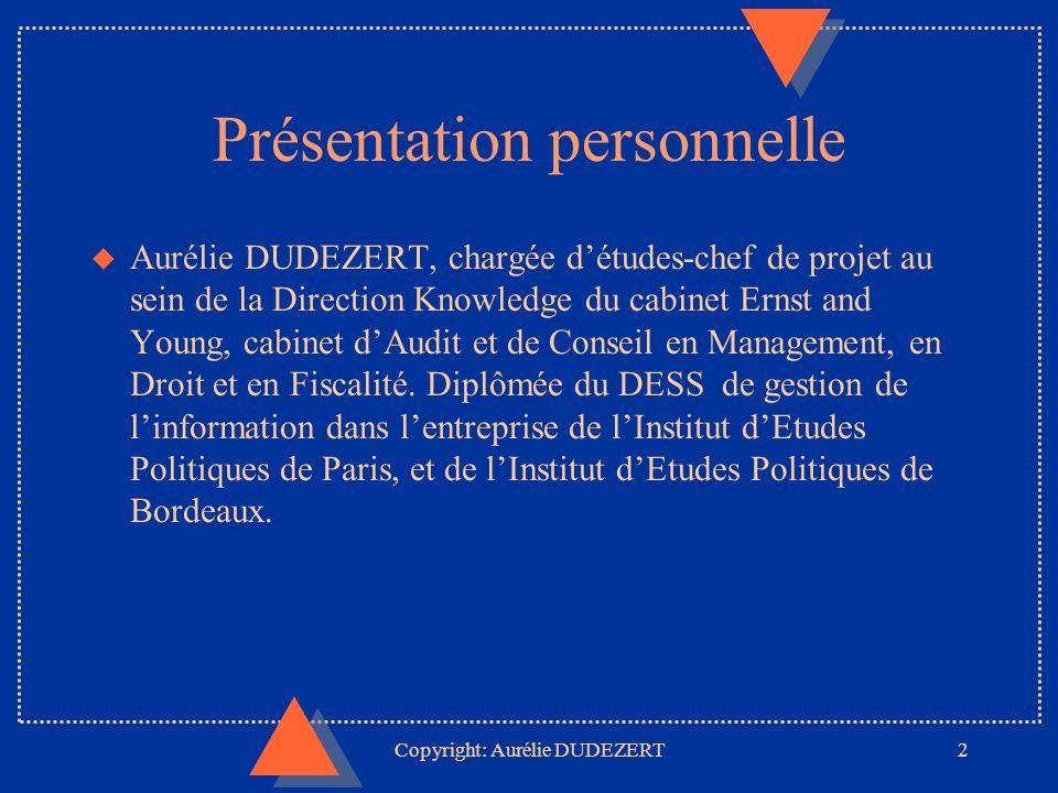 Copyright: Aurélie DUDEZERT23 ORTélématique u Créé en 1973, le groupe ORT est une entreprise familiale u Très lié à lEtat u Pionnier du vidéotext (dès 1982) Fonds dinformation spécialisé en information presse, juridique et société