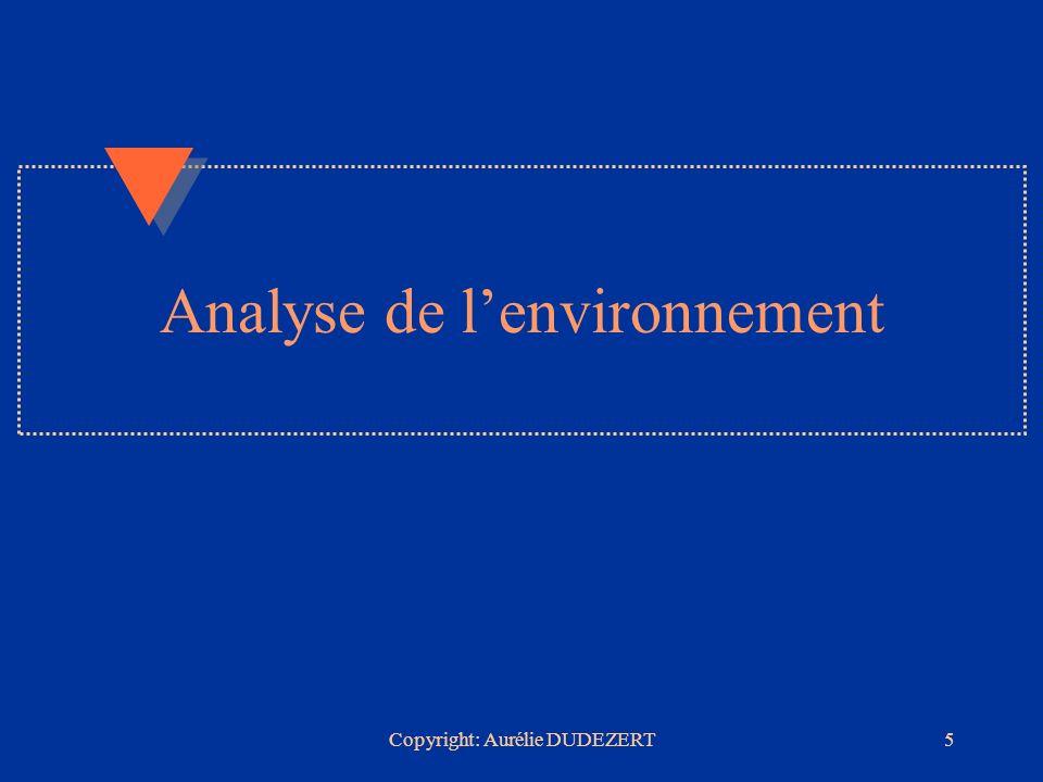 Copyright: Aurélie DUDEZERT6 u Historique u Lenvironnement u Les parties prenantes u Les principales tendances stratégiques suivies par les serveurs