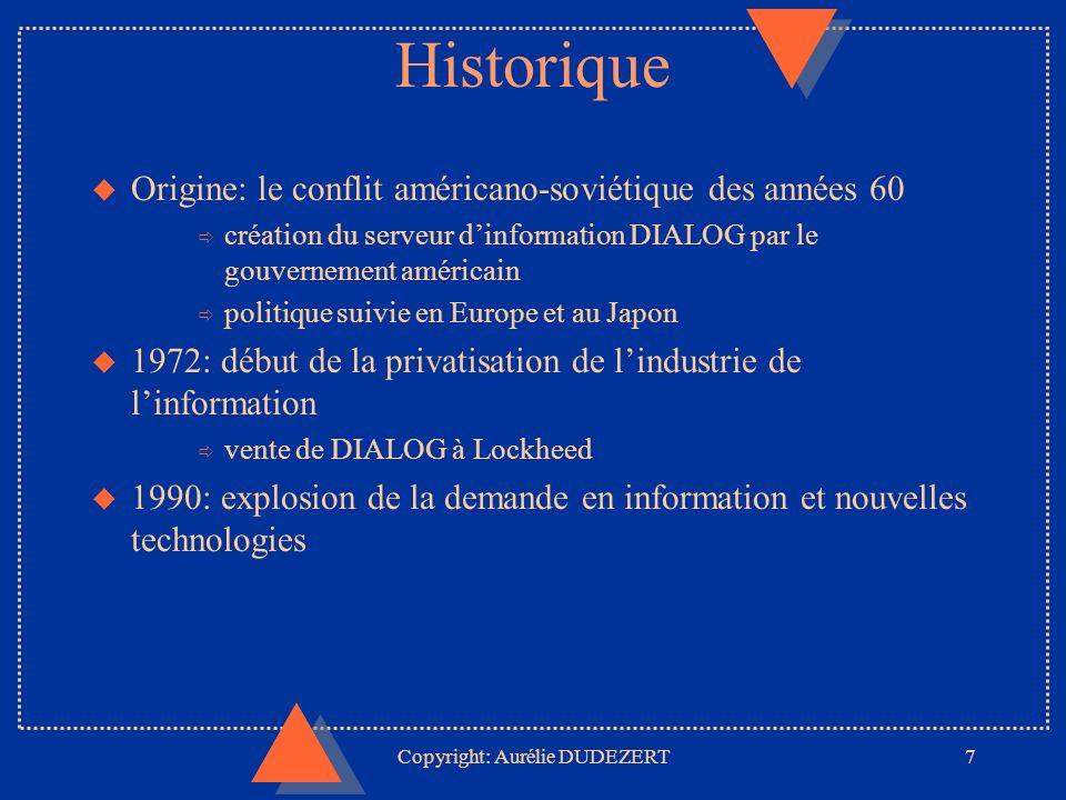 Copyright: Aurélie DUDEZERT18 The DIALOG CORPORATION: Its massive.